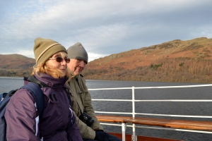 Mum and Dad on the Ullswater Steamer